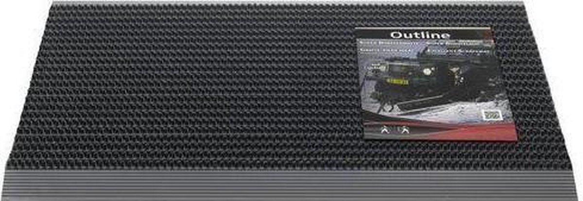 Hamat Deurmat outline - 50x80 - Pure Zwart