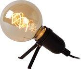 Lucide PUKKI Tafellamp - LED - E27 - 1x5W 2200K - Zwart