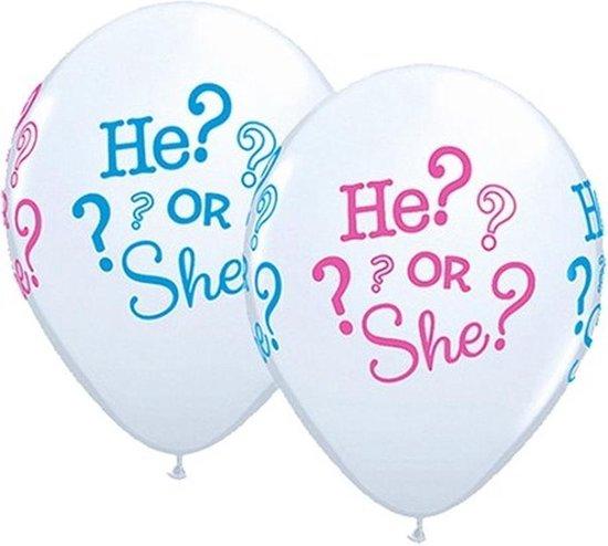 Ballonnen He Or She? - 5 stuks