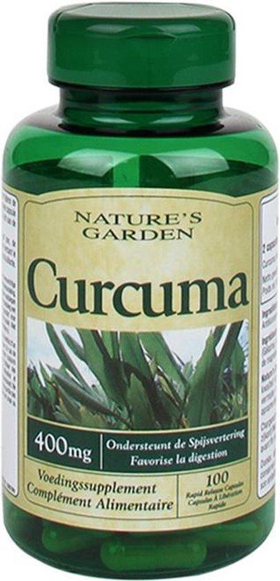 Nature's Garden - Kurkuma Capsules 400mg - Supplementen