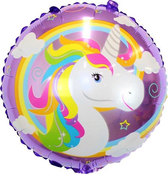 Eenhoorn Versiering Helium Ballonnen Unicorn Decoratie Feest Ballon Verjaardag Versiering 40 Cm Met Rietje – 1 Stuks