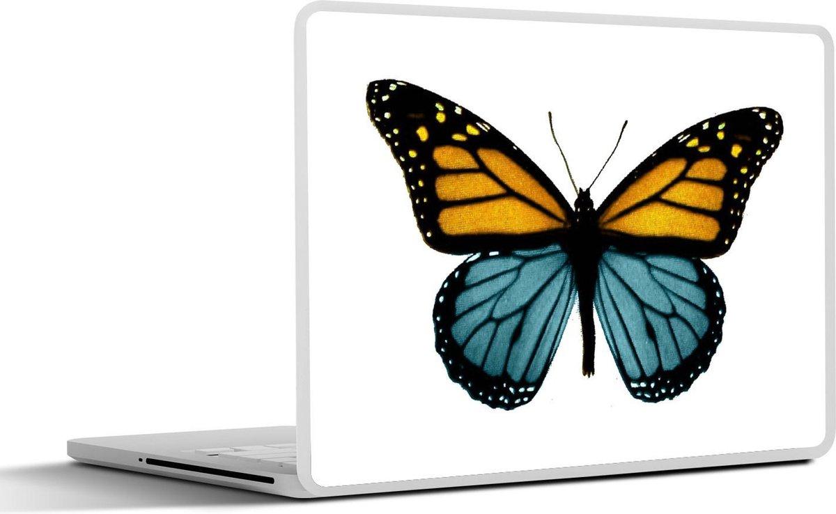 Laptop sticker - 12.3 inch - Illustratie van een vlinder met twee kleuren