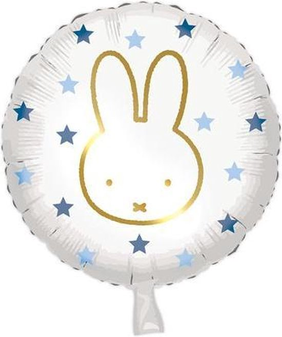 folieballon Nijntje 45 cm wit/blauw