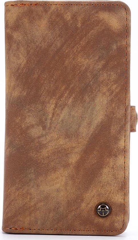 Caseme - iPhone SE (2020) Hoesje - Uitneembare Portemonnee Vintage Bruin