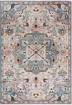 Blauw Tapijt Laagpolig Vintage Vloerkleed - Omid Vintage Lifestyle 2 - 160x230cm- Modern - Woonkamer - Salon - Slaapkamer - Eetkamer