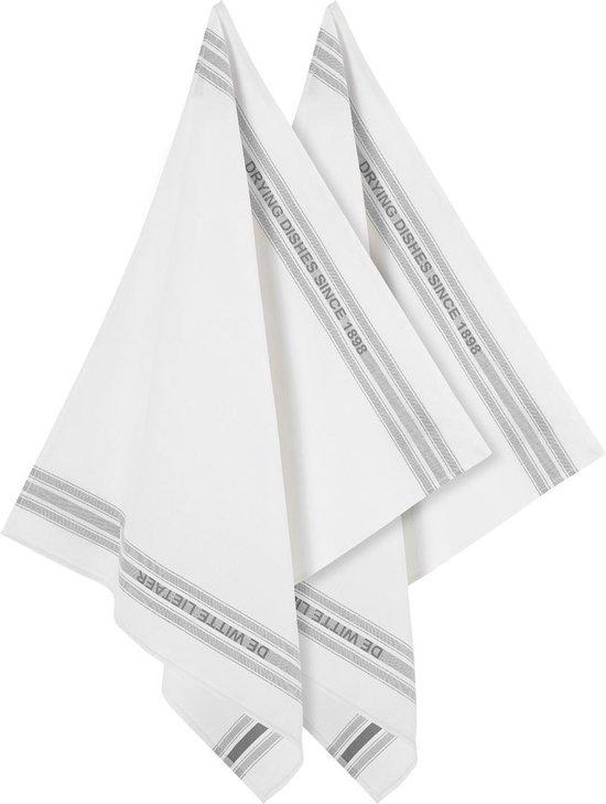 De Witte Lietaer - Dish - Thee- en keukendoek (68 X 68).off-white-grey