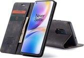 CASEME Wallet Hoesje voor OnePlus 8 Pro - Zwart