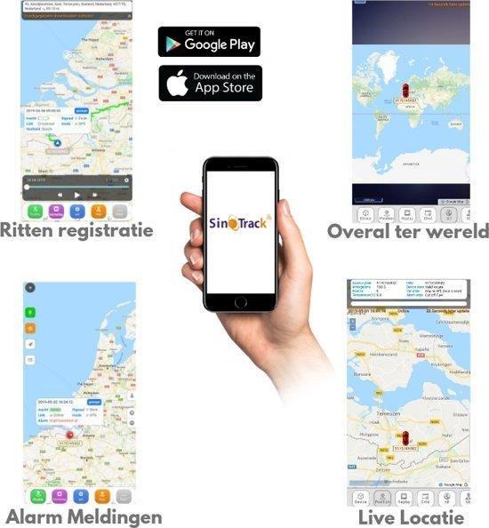 Sinotrack Auto/Scooter GPS Tracker- Auto beveiliging - web en app gratis