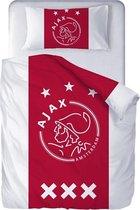 Ajax Dekbed / Dekbedovertrek rood wit 140 x 200 cm