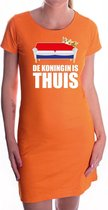 De koningin is thuis oranje jurk voor dames - Koningsdag / Woningsdag - oranje kleding / jurkjes S