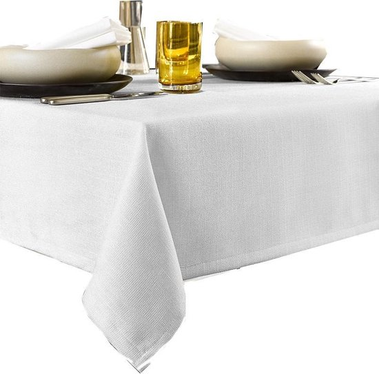 De Witte Lietaer Tafellaken Gibson - Polyester - 145x260 cm - Wit