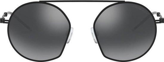 Emporio Armani Light Grey Mirror Black Zonnebril  – Zwart