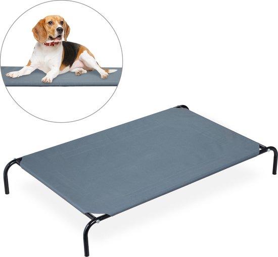 relaxdays hondenstretcher - honden ligbed - grote honden - hondenbed - honden zonnebed L