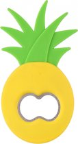 Tom Flessenopener Ananas 11 Cm Staal/polypropeen Groen/geel