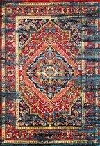 Vintage Marrakech Vloerkleed Zwart / Multi Laagpolig - 200x290 CM
