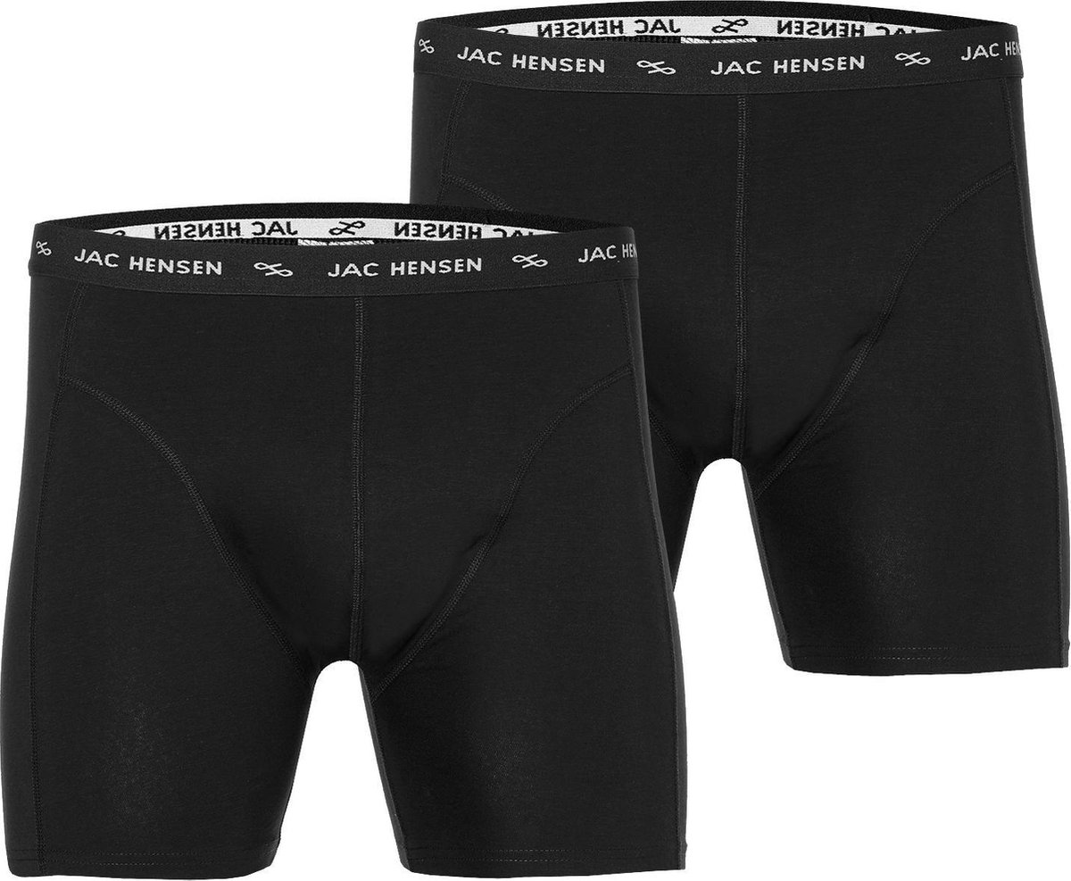 Jac Hensen Boxers 2-pack - Zwart - 4XL Grote Maten
