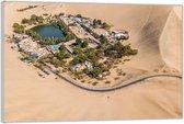 Plexiglas –Stad in de Woestijn– 40x30 (Wanddecoratie op Plexiglas)