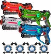 Light Battle Active lasergame set - Oranje/Groen/Wit/Blauw - 4 laserguns + 4 vesten